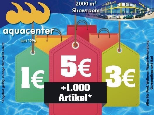 1000 artículos a sólo 1€ - 3€ - 5€ en JuJuJu Aquacenter