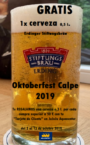 Cerveza Oktoberfest Calpe 2019 jujuju aquacenter en Benissa