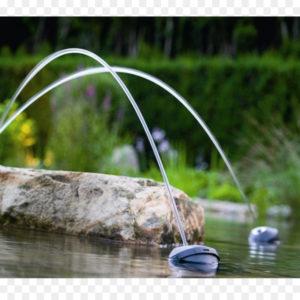 Juegos acuaticos y fuentes de oase en jujuju aquacenter en benissa - alicante