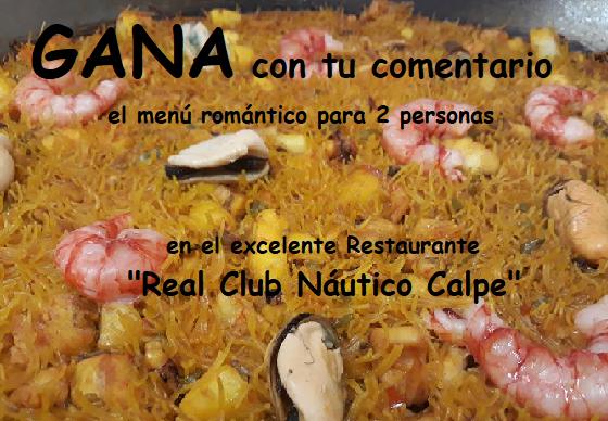 gana una cena romántica en el restaurante del Real Club Náutico Calpe - partner de jujuju aquacenter en benissa
