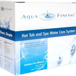 Aquafinesse para desinfectar el agua del spa whirlpool en jujuju aquacenter