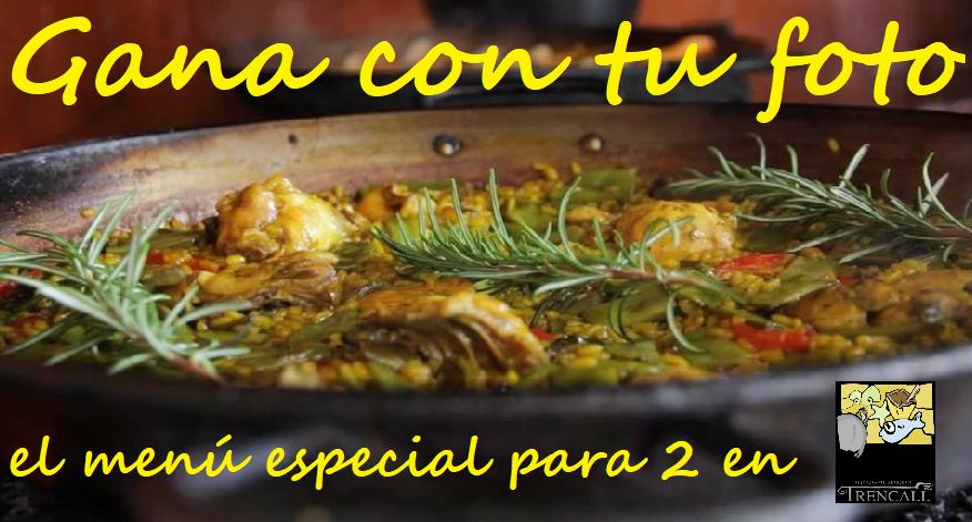 GANA con tu foto el menú especial para 2 en el Restaurante Trencall en Jávea
