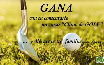 """GANA un Curso """"Clinic de Golf"""" para tu familia en el Club de Golf Jávea (4 personas) 😘"""