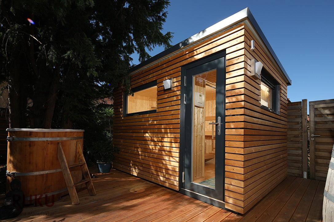 Sauna exterior jardin - Gartensauna - Outdoor sauna - jujuju aquacenter benissa javea calpe moraira denia benidorm altea albir