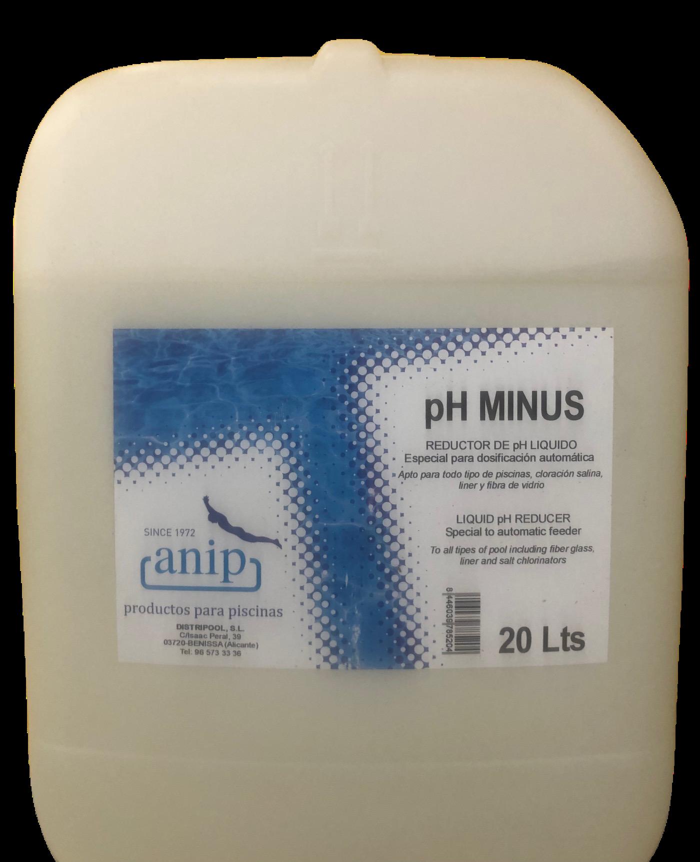 Minorador pH anip en jujuju aquacenter benissa