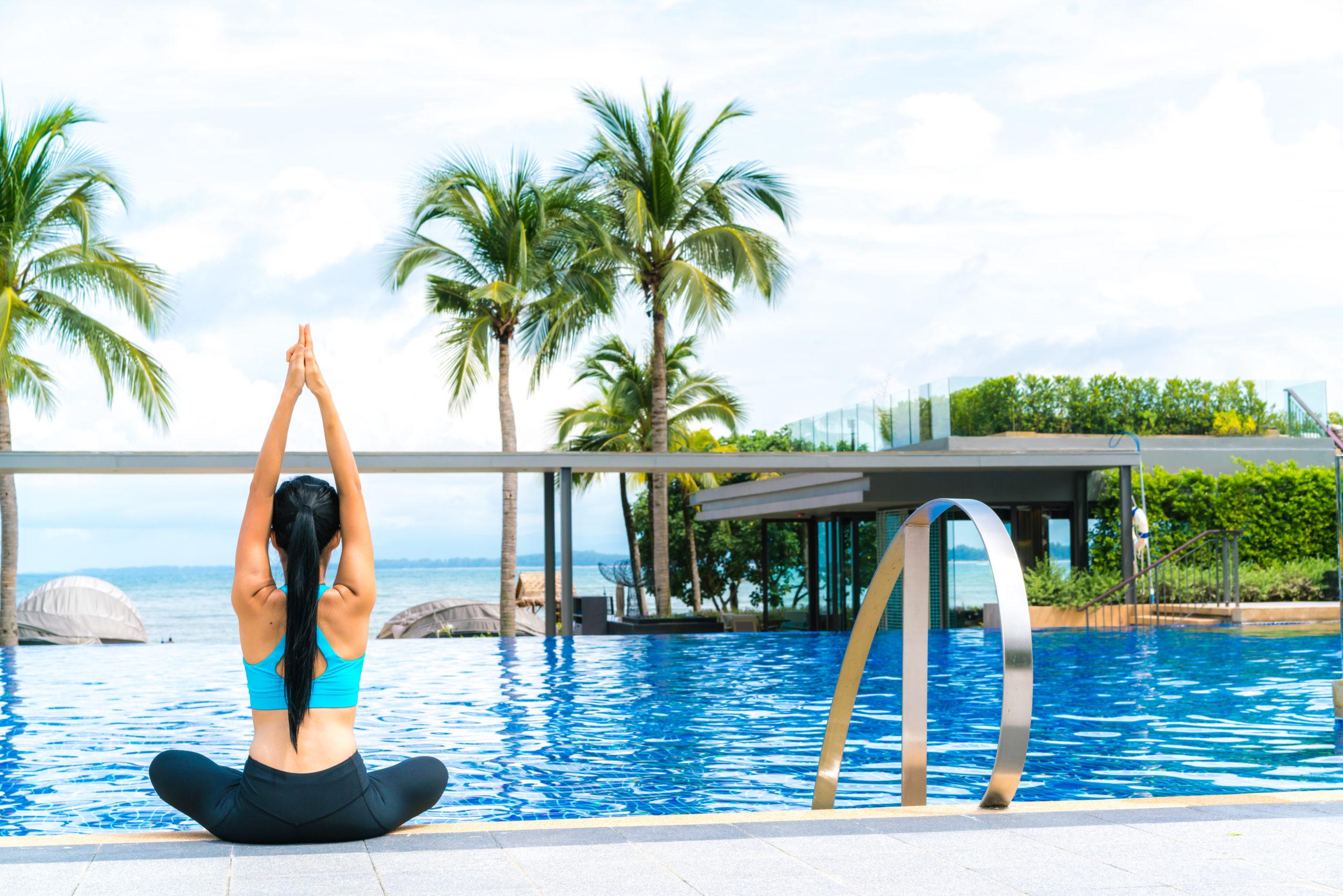 Aqua fitness and yoga