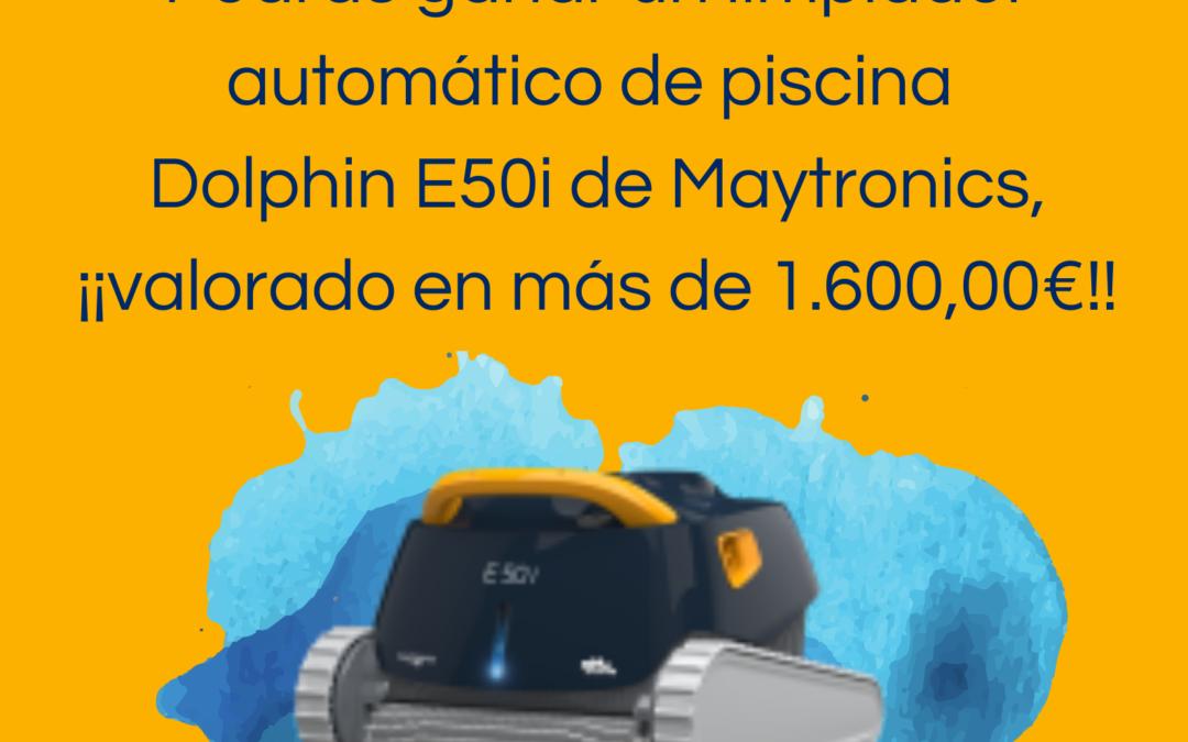 sorteo del pool robot E50i de maytronics por el 25 aniversario de jujuju aquacenter en benissa javea calpe teulada moraira denia benidorm albir