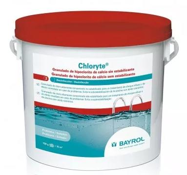 Cloro granulado sin acido cianurico Chloryte de Bayrol en jujuju aquacenter benissa javea moraira calpe